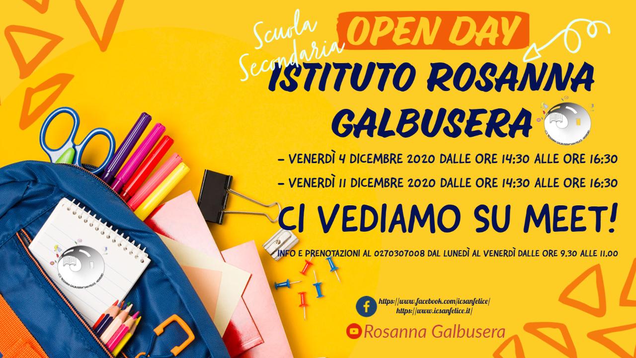 Locandina open day secondaria